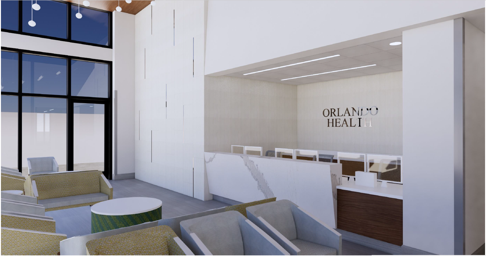Orlando Health Imaging Center Interior Rendering