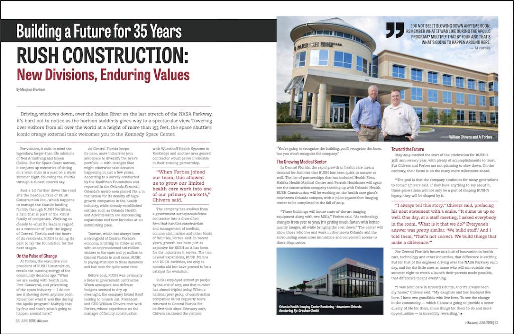 RUSH Construction in i4 Business Magazine June 2019